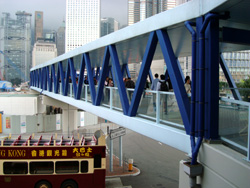Star Ferry Walkway, Central, HK.